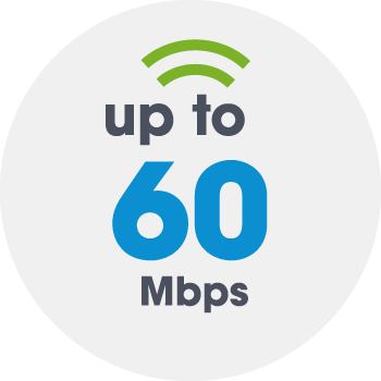 Up to 60Mbps